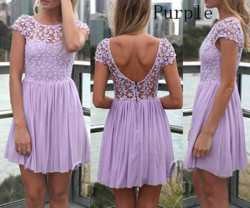 AU STOCK EMBROIDERY CROCHE LACE COCKTAIL PARTY WEDDING MINI DRESS DR027