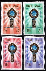 Liban-liban Neuf Sans Charnière Sc # C560-c563 Ligue Arabe 1967 Nouveau Design (En);