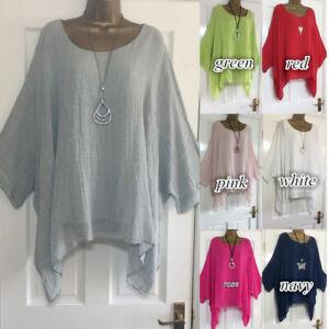 Plus-Size-Boho-Womens-Long-Sleeve-Kaftan-Baggy-Blouse-Loose-Tee-Shirt-Tops-Tunic