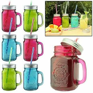 Different Coloured Drinking Glasses