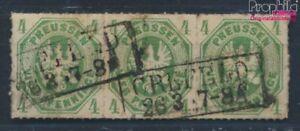 Preussen-14a-Dreierstreifen-Pracht-gestempelt-1861-Wappenadler-6937598