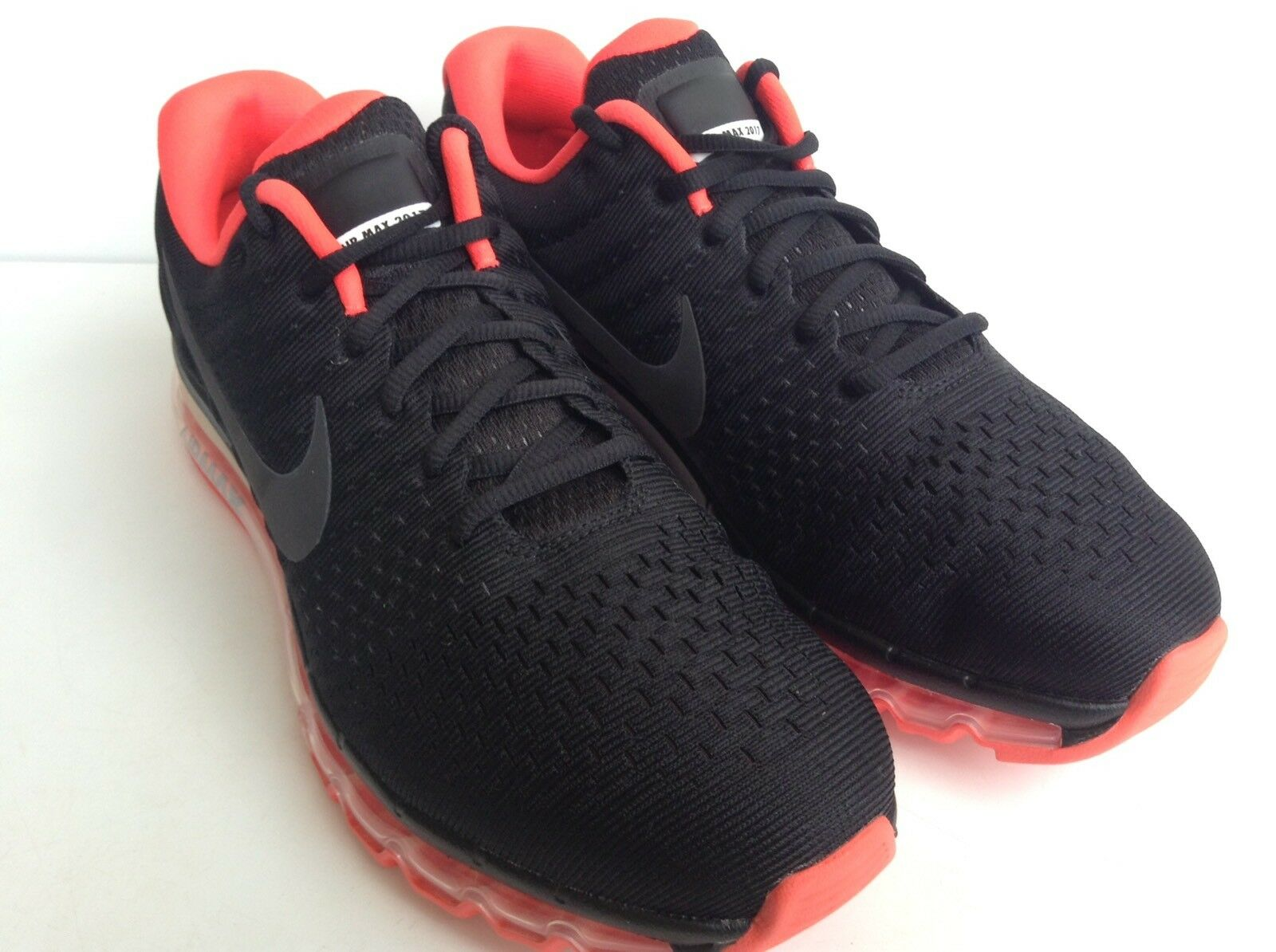 NIKE AIR MAX 2018 ID BLACK-CRIMSON RED RUNNING SHOES  MNS.Price reduction Brand discount