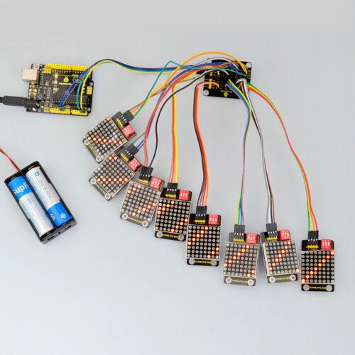 Keyestudio 8x8 DEL Dot Matrix Module affichage adresse Sélectionner pour Arduino project
