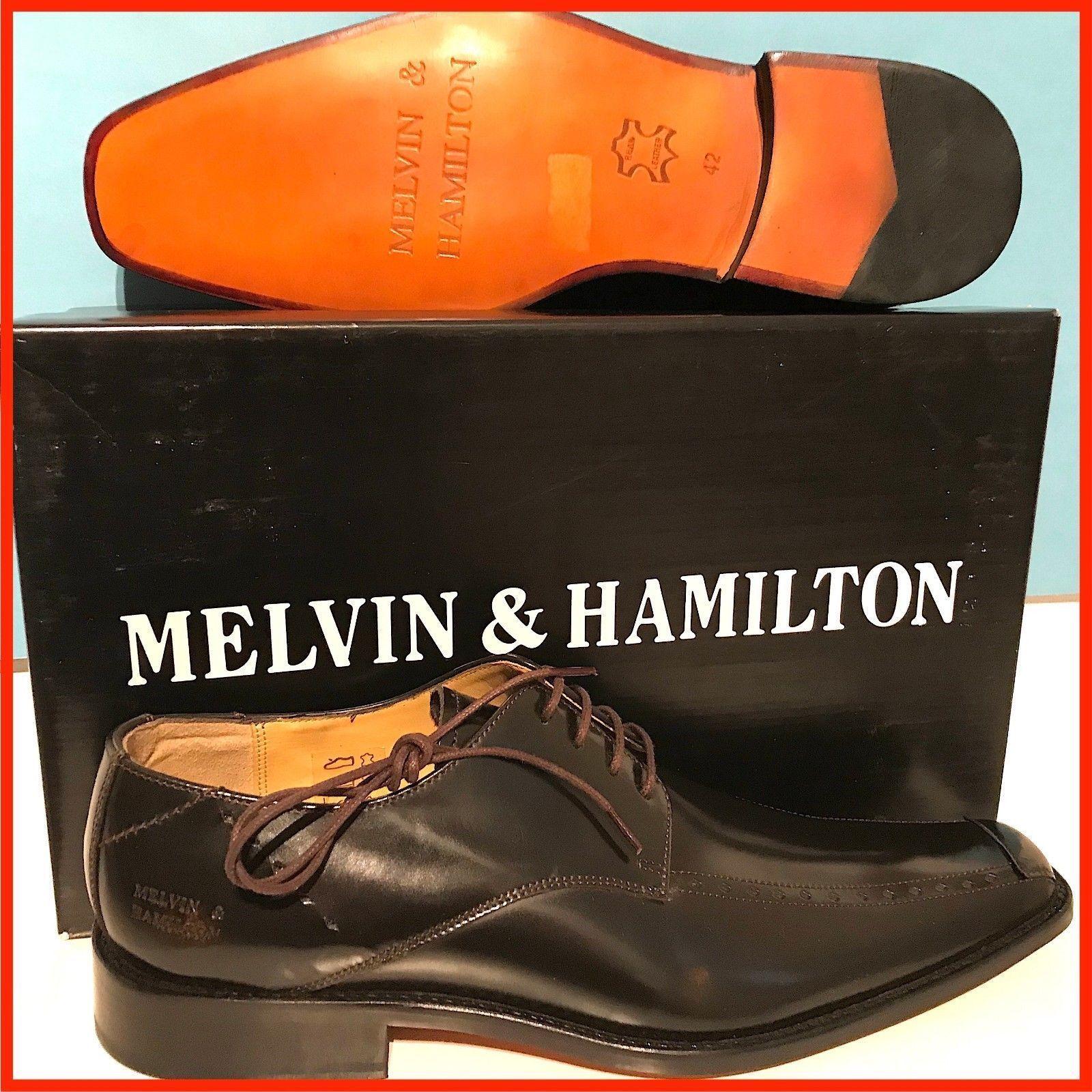 MELVIN & HAMILTON MEN HALBSCHUHE BUSINESS SCHNÜRSCHUHE SCHUHE BRAUN RARE GR. 42