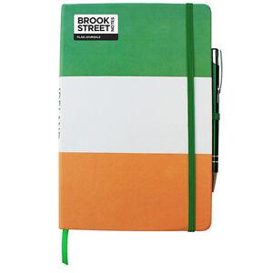 ireland flag notebook hardback a5 irish tricolour journal