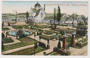 Bruxelles Exhibition 1910 postcard - Section Allemande - P/U 1913 (A48)
