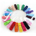 50pcs Lots Baby Women Girl Crochet Elastic Hair Bands Headband Mixed Colors CA