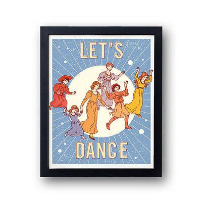 LETS DANCE! david bowie inspired print space, party, shake it