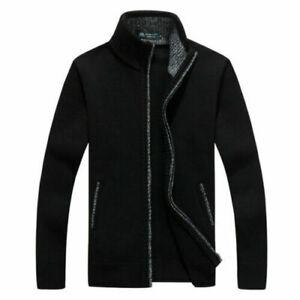 Thicken-Knitwear-Jacket-Men-039-s-Sweater-Zipper-Winter-Outwear-Casual-Warm-Coat-New