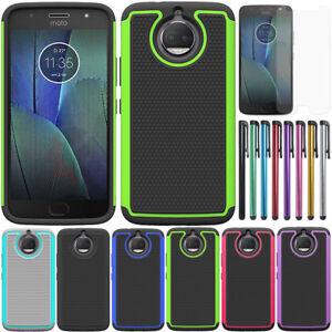 Shockproof-Bumper-Case-Hybrid-Rugged-Cover-Film-For-Motorola-Moto-G5s-Plus-G6
