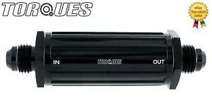 AN-6-06AN-JIC-AN06-Black-Anodised-Billet-Slim-Line-Fuel-Filter-30-Micron