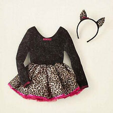 The Children's Place Cat Costume Girls Size XS 4 Leopard NEW!