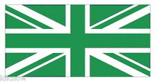 GREEN UNION JACK FLAG 5FT X 3FT