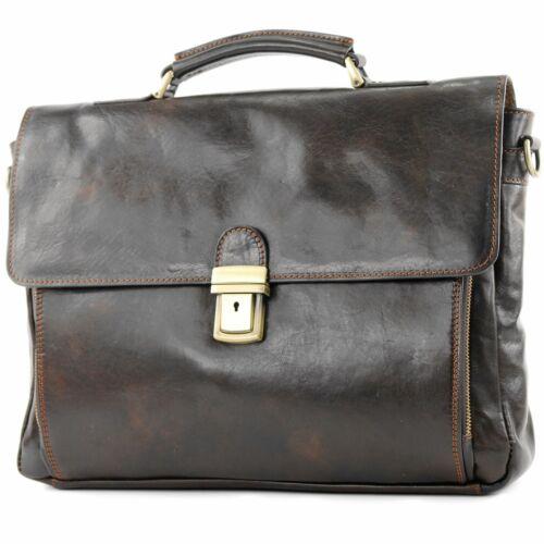 ital Business Laptop Akten Dokumenten Tasche DIN A4 Leder A010 modamoda de
