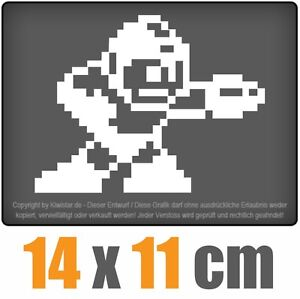 Megaman-14-x-11-cm-JDM-decal-sticker-coche-car-blanco-discos-pegatinas