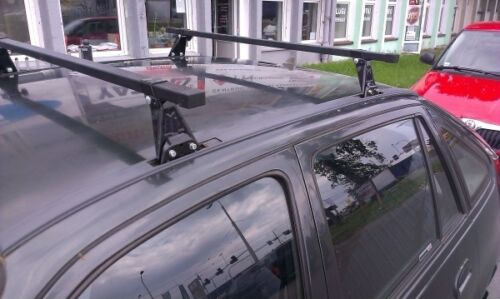 Pair of Roof Bars AS ST 110cm 97-05 Mitsubishi Carisma Hatchback Saloon