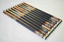 """SET OF 10 POOL CUES New 58"""" Canadian Maple Billiard Pool Cue Stick #5 FREE SHIP"""
