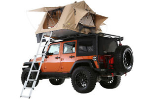 Details about Jeep Wrangler JK TJ YJ Smittybilt Overlander Roof Top C&ing Tent w/Ladder 2783  sc 1 st  eBay & Jeep Wrangler JK TJ YJ Smittybilt Overlander Roof Top Camping Tent w ...
