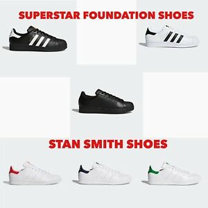 Adidas SUPERSTAR FOUNDATION STAN SMITH Unisex Men s Women s Trainers ... ccc9c68fc
