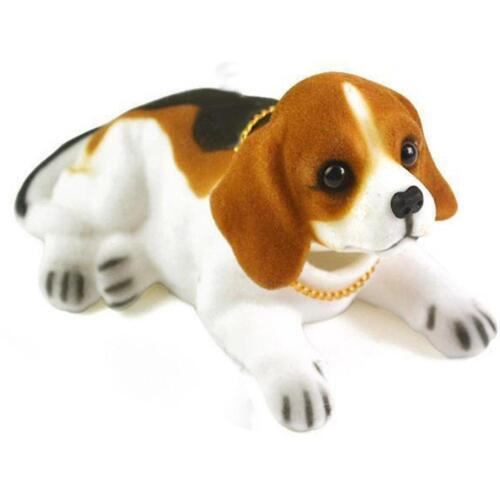 1x Simulation Animal Doll Resin Nodding Sleeping Dog Puppy Car Dashboard Decor