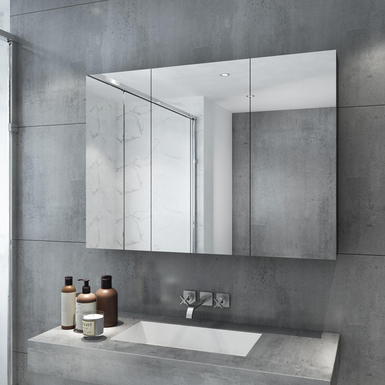 1000x720mm Bathroom Vanity Mirror Cabinet Wall Hung Shaving Storage Cupboard For Sale Online Ebay