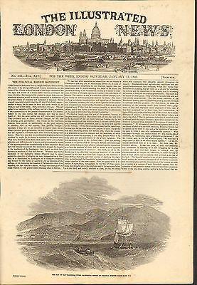 BAY OF SAN FRANCISCO CALIFORNIA #01-0149 1//13//1849 ANTIQUE PRINT