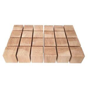 """LOT x 24 CUBES 1.5"""" / 40 mm WOODEN BLOCKS BUNDLE SET OAK WOOD NATURAL ECO BRICKS"""