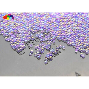 100000 pcs 12g Glass Roland Purple Micro Beads small No Hole 0.6-0.8mm Nail Art