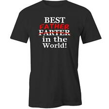 Best Father In The World T-Shirt Day Dad Daddy Gift Present Tee New