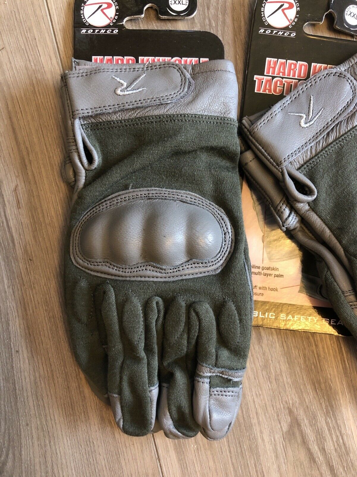 Rothco 3464 Flame and Heat Resistant Hard Knuckle Tactical Gloves - Gray