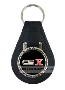 HONDA-CBX-BLACK-MOTORCYCLE-leather-keyring-keychain-keyfob