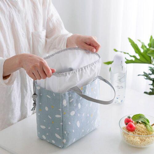 Tragbar Frühstückstasche Kordelzug Thermisch Isoliert Kiste Flasche # eNwrg