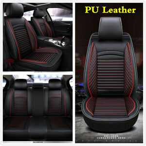 Universal-Full-Set-Luxury-PU-Leather-Car-Seat-Covers-Cushions-For-5-Seats-Car