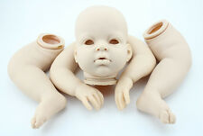 "Reborn Doll Kits Handmade Soft Vinyl Head Arm Legs for 27"" Baby doll kids toys"