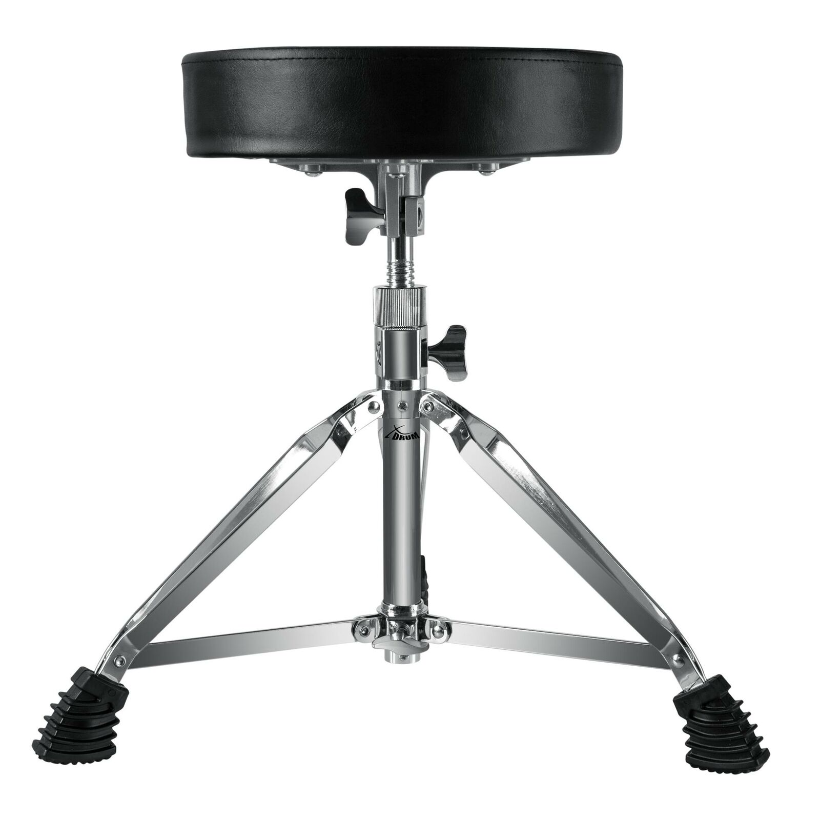 Drum Percussion Stool Seat Double Braced Chair Rubber Feet Adjustable 47-60cm