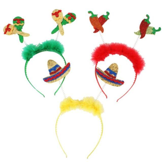 NEW MEXICAN SPANISH BRAZIL HEADBAND HAIRBAND HEAD BOPPERS PARTY FANCY DRESS HAT