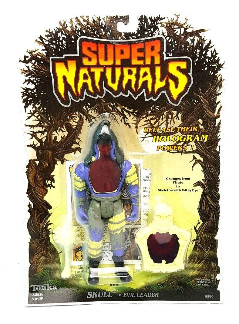 Vintage   SKULL SUPER NATURALS Action Figure   MOC Carded Sealed 80s Tonka