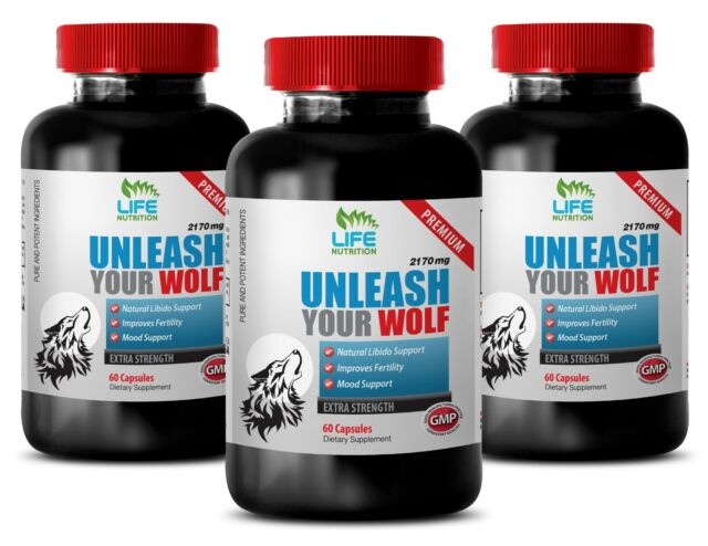 Testosterone Cream UNLEASH YOUR WOLF 2170MG Tongkat Ali & Maca Extract Libido 3B for sale online