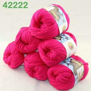 AIPYARN-Sale-6Ballsx50g-Soft-Cotton-Chunky-Super-Bulky-Hand-Knit-Crochet-Yarn-22