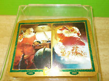 2 COCA COLA (sealed) PLAYING CARDS IN A HINGED TIN WITH PICTURES OF SANTA