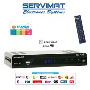 FRANSAT-SERVIMAT-SIRIUS-HD-Decodificador-visualizacion-Tarjetas-Reloj
