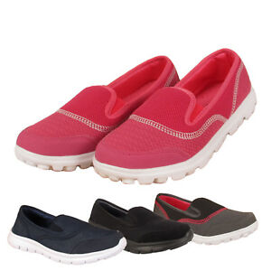 popular brand website for discount 100% top quality Womens Ladies Slip on Skater Sneaker Pumps Walk Trainers Shoes ...