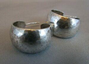 Retired James Avery Sterling Silver Hammered Bola Hoop Earrings 925 Ebay