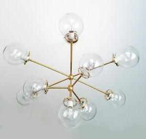 constell room chandelier dining globe for hover brass scene products globes clear