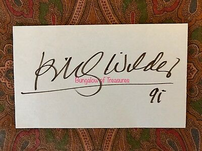 Cards & Papers Movies Contemplative Director Billy Wilder Signed 3 X 5 Index Card