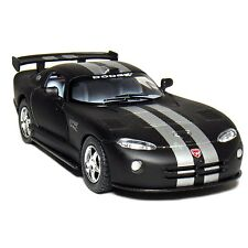 "New 5"" Kinsmart Dodge Viper GTS-R Diecast Toy 1:36 Matte Black Silver Stripes"