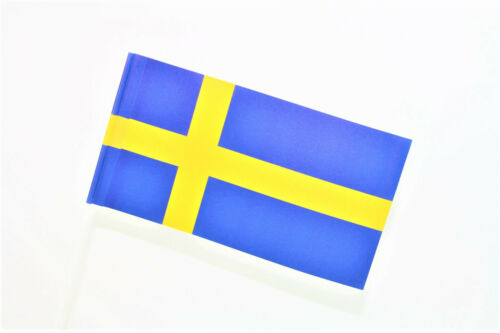 Schweden Deko Papier Fähnchen Fahne Flagge Nationen Staaten Europa EU