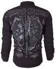 Xtreme Couture AFFLICTION Mens BUTTON DOWN Shirt RATTLE Biker UFC Roar $78