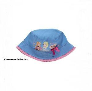 Ex-Disney Baby   Girls ANNA   ELSA - FROZEN Summer Sun Hat 1-3 4-8 8 ... f9f0d35f70e