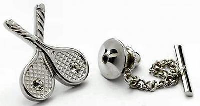 Competente Racchette Da Tennis Tie Pin Con Cristalli Nuovo In Scatola - 5217-mostra Il Titolo Originale Completa In Specifiche